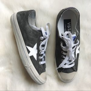 Golden Goose Green Suede V-Star 2 Sneakers